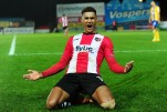 Ollie Watkins of Exeter City celebrates scoring a goal during the English Football League 2 Match between Exeter City and Mansfield Town on December 17 in Exeter, Devon. - Photo mandatory by-line: Tom Sandberg/Pinnacle - Tel: +44(0)1363 881025 - Mobile:0797 1270 681 - 17/12/16 - Sport - Football - English Football League 2 - Exeter City v Mansfield Town - St James Park, Exeter, Devon
