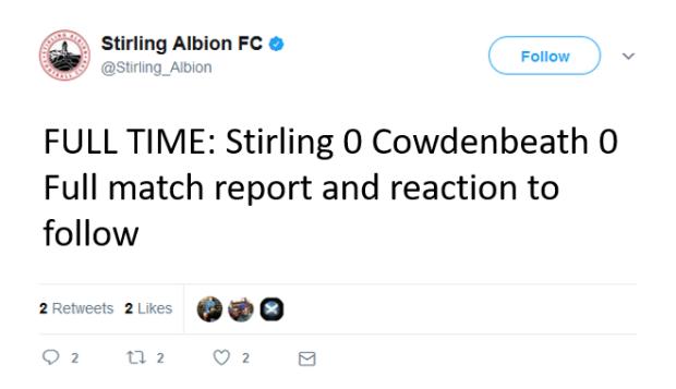 Stirling 0-0