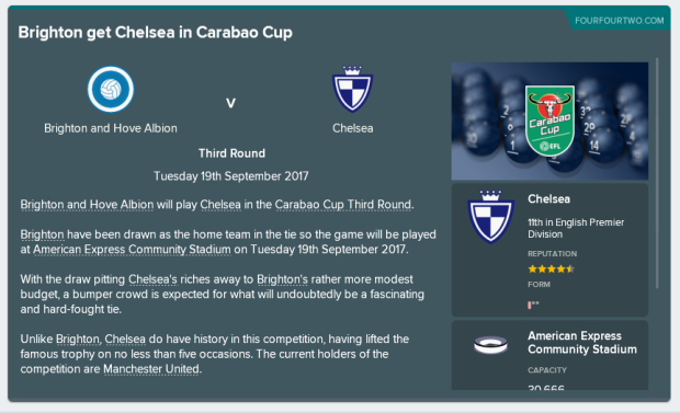Cup Draw rip