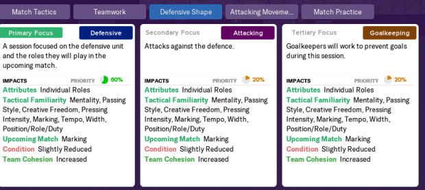 Defensive shape