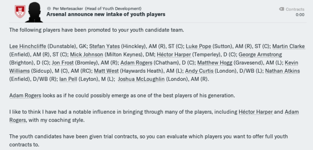 Youth intake